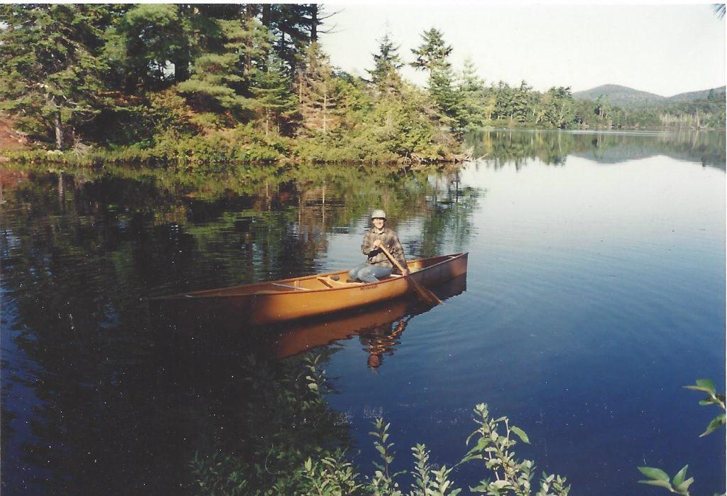 Canoeing St. Regis Lake, Adirondacks, NY